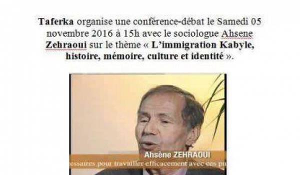 Ahcène Zahraoui animera samedi une conférence à Montreuil