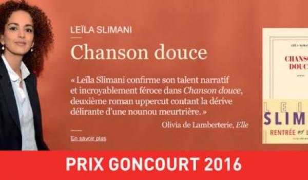 """Le prix Goncourt décerné à Leïla Slimani pour """"Chanson douce"""""""