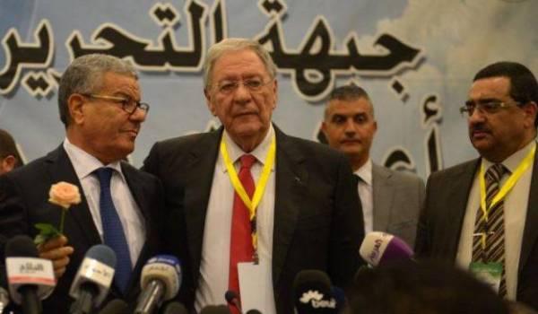 Amar Saâdani, Djamel Ould Abbès lors de l'intronisation de ce dernier.