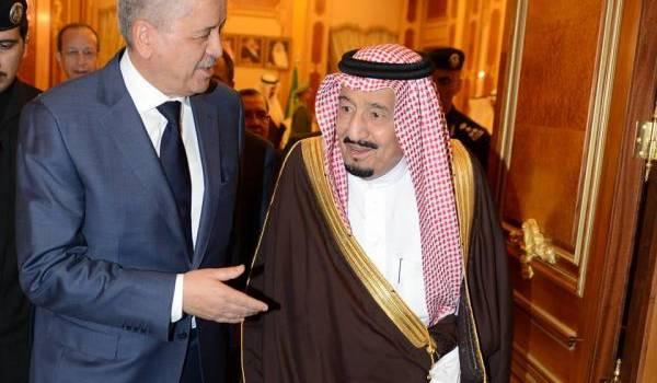 Abdelmalek Sellal avec le souverain saoudien