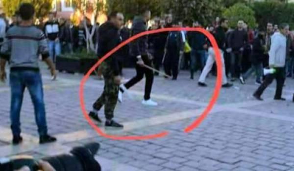 Des voyous actionnés par le Makhzen s'attaquent aux manifestants.