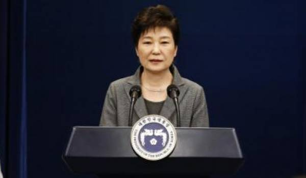 La présidente Park Geun-hye en voie de  destitution. Photo AFP