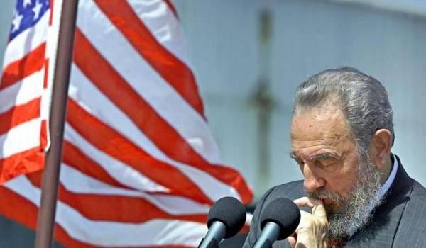 Fidel Castro, leader cubain.