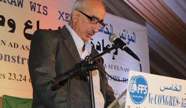 Rachid Halet exclu sans ménagement du parti du FFS.