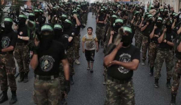 Les brigades Ezzedine Al Qassam, un des bras armés du Hamas palestinien.