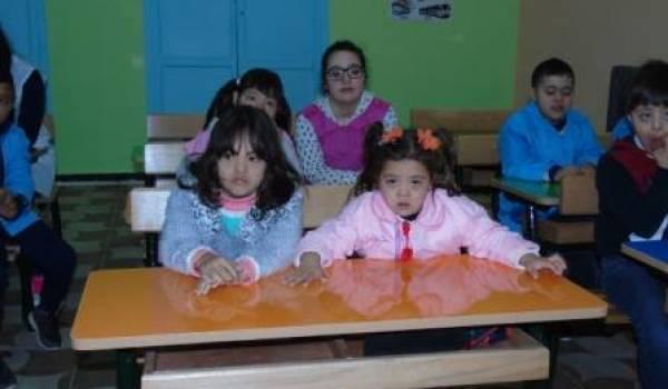 Une classe dédiée aux enfants trisomiques.