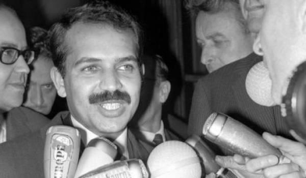 Abdelaziz Bouteflika au lendemain du coup d'Etat de juin 1965.