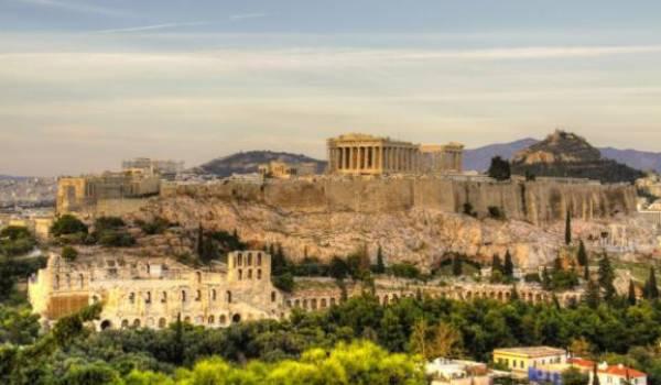 L'antique Athènes, la cité de la démocratie.