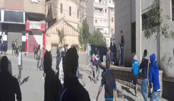 Photo de manifestants à Bejaia. Facebook.