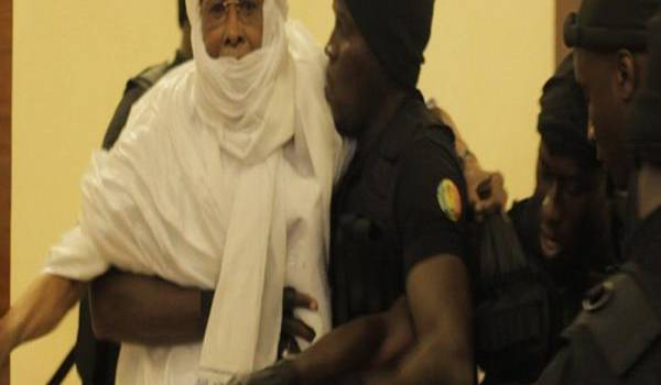 Le Tchadien Hissen Habré, dictateur déchu en procès au Sénégal où il était longtemps réfugié.