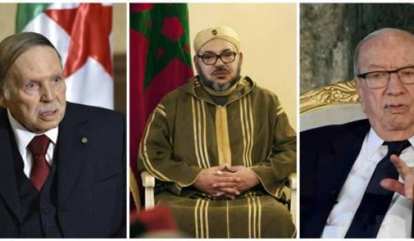 Bouteflka, Mohammed VI et Essebsi.