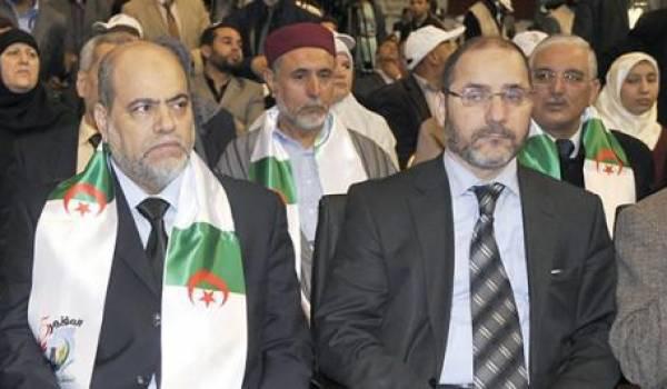 Soltani et Makri, une partie de la coalition islamiste