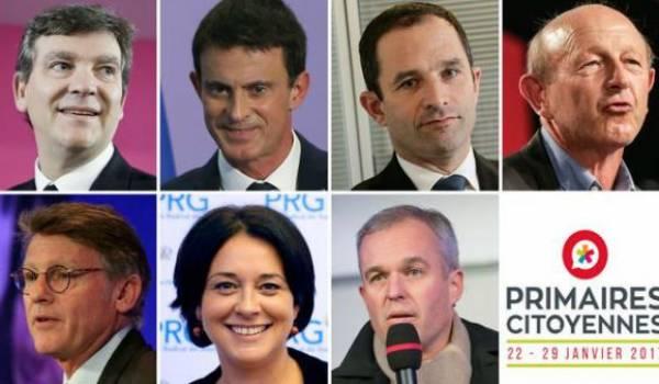 Les candidats à la primaire.
