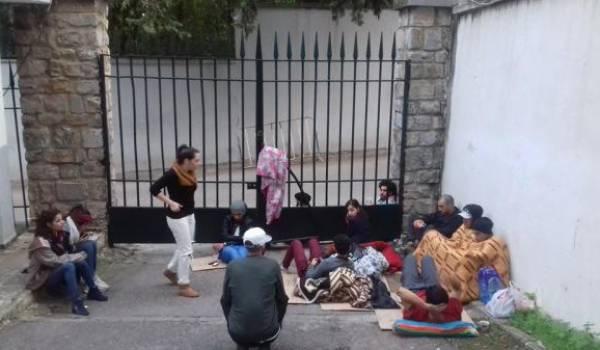 Les étudiants des Beaux-Arts en grève.