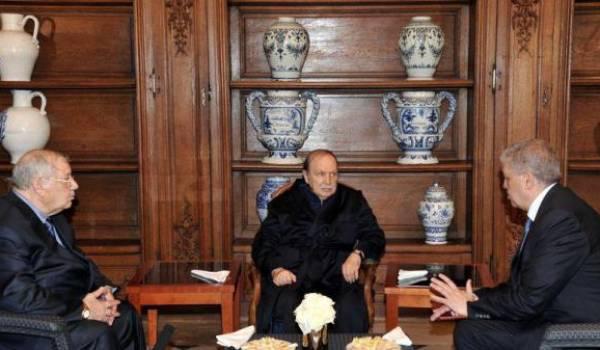 Abdelaziz Bouteflika, Gaid Salah et Abdelmalek Sellal dans l'ancien hôpital militaire du Val-de-Grâce.