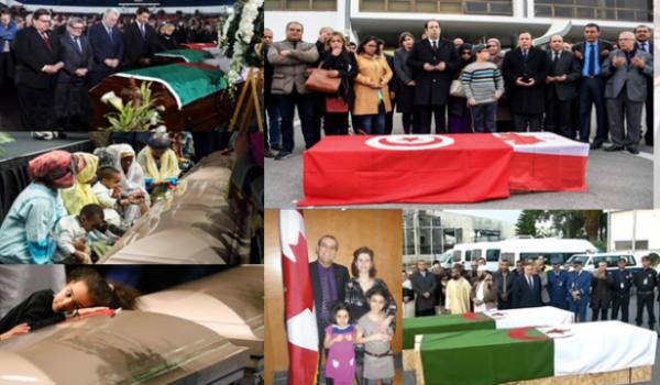 La cérémonie funéraire a été détournée par les islamistes avec le silence des autorités canadiennes.