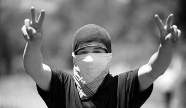 Manifestant du Printemps noir en Kabylie.