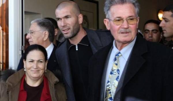 Les Zidane lors de la réception que leur avait accordé Abdelaziz Bouteflika.