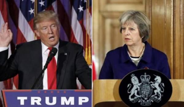 Donald Trump, le président des USA et Theresa May, le Premier Ministre britannique, le couple d'enfer.