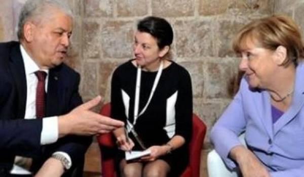 Merkel et Sellal, lors de leur dernière rencontre.