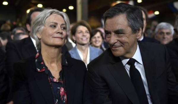 Penelope et François Fillon. Photo AFP