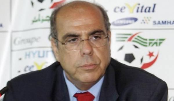 Mohamed Raouraoua, président de la FAF.