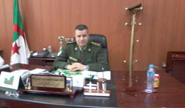 Le colonel Abdelkader Seddak, patron de la brigade de gendarmerie à Batna.