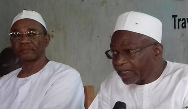 Saleh Kebzabo, à droite, et Ahmat Mahamat Al-Habo,responsable du Fonac.