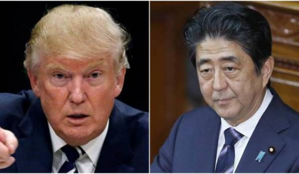 Donald Trump et le premier ministre japonais Shinzo Abe