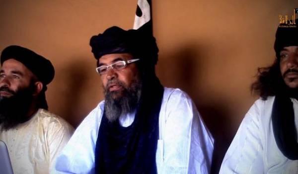 Les responsables des organisations terroristes du Sahel dont Iyad Ag Ghali au milieu.