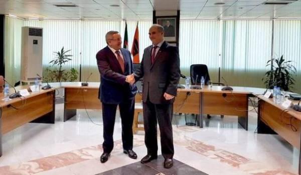 Le ministre de l'Energie avec le nouveau pdg de Sonatrach