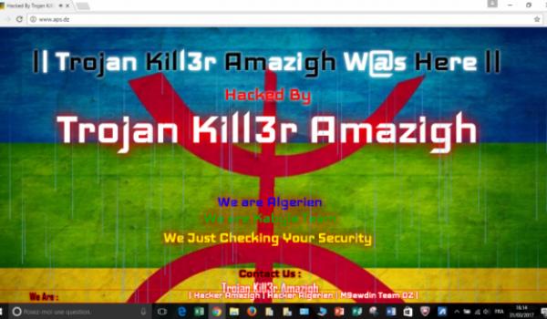 Le site internet de l'Agence presse service (APS) piraté