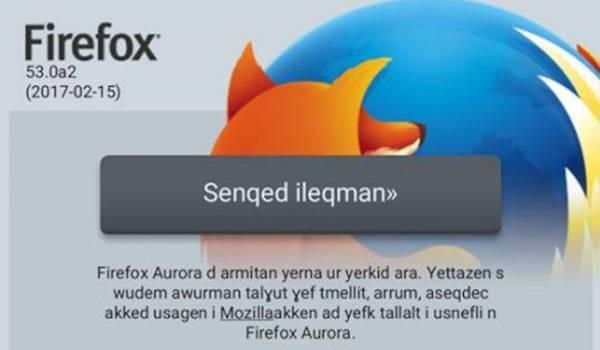 Firefox se met désormais totalement à la langue kabyle