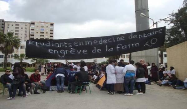 Un des 4 étudiants grévistes de la faim à Tizi-Ouzou dans le coma