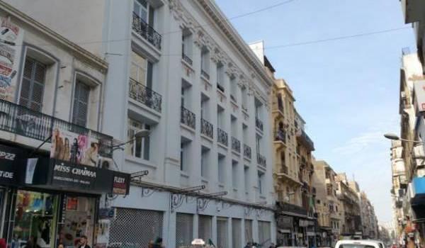 Façade du futur Musée d'art moderne d'Oran (MAMO) actuellement aménagé en galerie d'art.