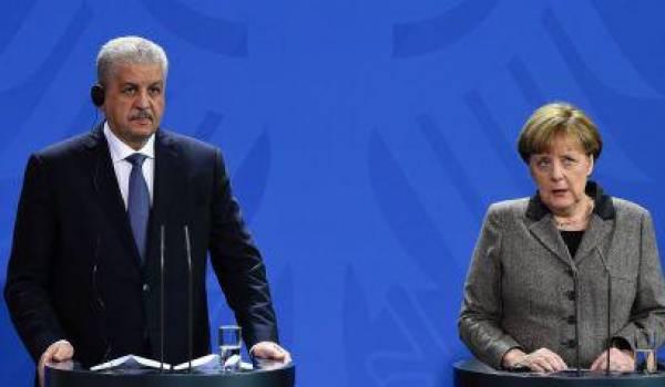 Abdelmalek Sellal et Angela Merkel