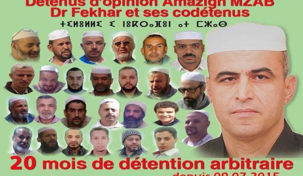 41 détenus mozabites sont maintenus en prison sans le moindre jugement.