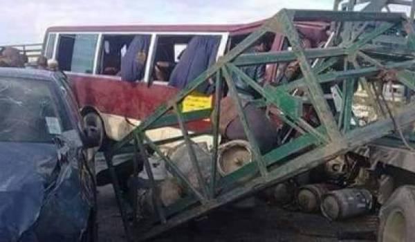 Photo prise de ce terrible accident de ce matin. Crédit de Nour-Eddine Merabet.