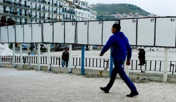 Affichage timide à Alger: la campagne électorale démarre dans l'indifférence.