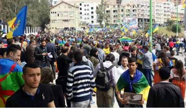 La marche du 20 Avril des militants du MAK à Tiz-Ouzou.
