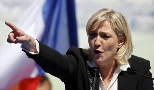 Marine Le Pen, patronne du parti d'extrême droite, FN.