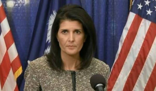 Nikki Haley., l'ambassadrice des USA.