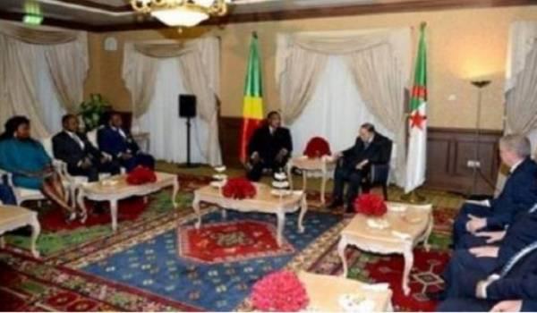 Plan de l'audience accordée à  Denis Sassou Nguesso.