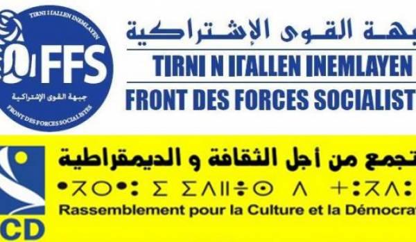 Les partis FFS/RCD auront-ils des sièges hors de la Kabylie et d'Alger ?