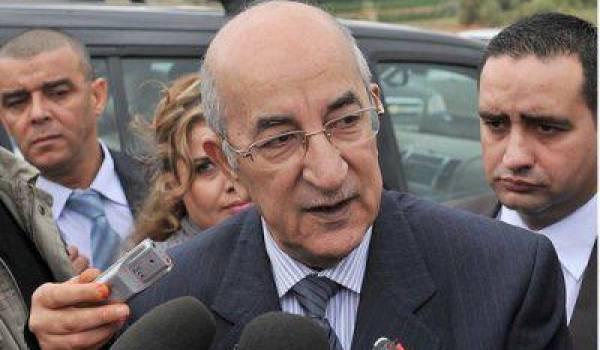 Abdelmadjid Tebboune, ministre de l'Habitat et intérimaire au département du Commerce.
