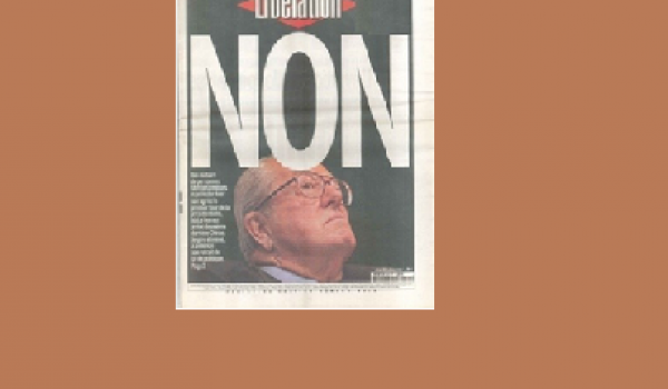 """La Une de """"Libération"""" en 2002."""
