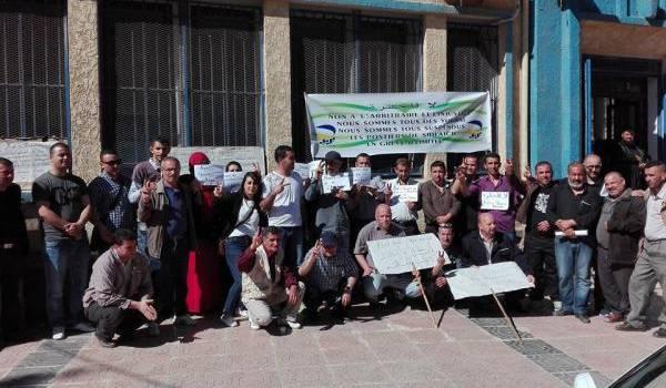 Les postiers grévistes de Bejaia