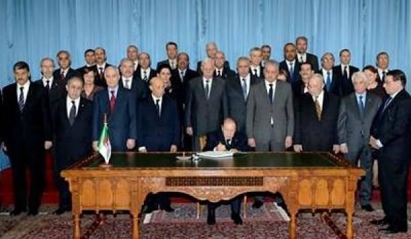 Le président Bouteflika au dernier conseil des ministres de décembre dernier.