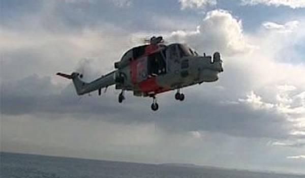 Un hélicoptère de la Marine. Photo Ministère de la Défense.