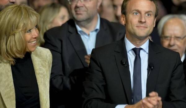 Emmanuel Macron et son épouse. Crédit photo : François Navarro.